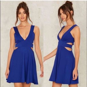 Nastygal Blue Cutout Dress